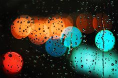 cold rain by Idle Type, via Flickr  Reminds me when i was little in the back seat of the car going xmas shopping with my mom and seeing the street lights and holiday lights reflected in the car windows.