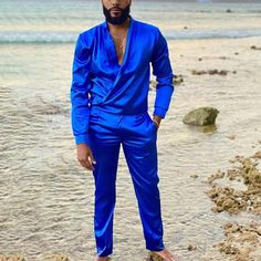 Style Casual, Men Casual, Trouser Suits, Trousers, Satin Shirt, Summer Suits, International Fashion, Costume, Shirts