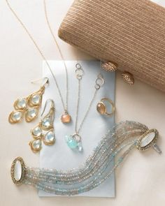 "See the ""Delicate Jewelry"" in our Wedding Colors: Powder Blue and Nude gallery"