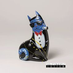 "Senatori Town Collection Skulptur /""Big City Cat Blue SELWYN SENATORI Dean/"""