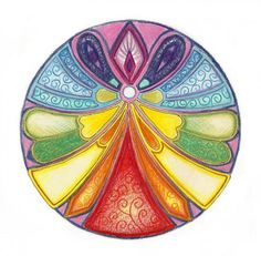 Peace Mandala | Angel mandalas | Mandala Art