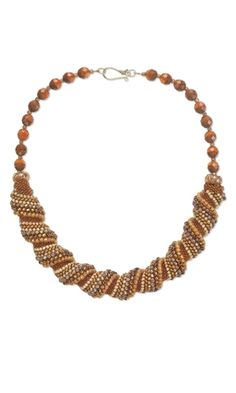 Single-Strand Necklace with Seed Beads and Glass Beads - Fire Mountain Gems and Beads