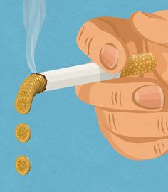 Retro Style Thought Provoking Illustrations by John Holcroft - 8 - Tobacco Industry
