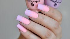 Матовые ногти дизайн градиент