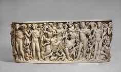 Marble sarcophagus with the Triumph of Dionysos and the Seasons, Roman, c. 260-270 AD, Metropolitan Museum of Art, NYC