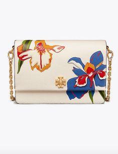 Tory Burch Kira Floral Double-Strap Shoulder Bag