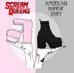 like for scream queens. repin for american horror story.<<< UM I'M SIMPLY REPINNING BECAUSE OF THESE AMAZINGLY BOLD SHOWS! I WOULD WEAR BOTH PAIRS!!!!! -<3, Paige Palmer