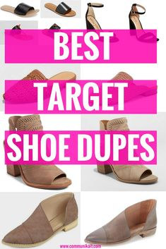 26e8efba058a Best Target Shoe Dupes - Shoe Shopping - Target Shopping - Affordable Shoes  - Communikait by