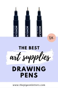 Archival ink drawing pens that don't bleed and make your artwork last a lifetime Best Drawing Pens, Cool Drawings, Creative Business, Hand Lettering, Ink, Graphic Design, Make It Yourself, Drawing Tutorials
