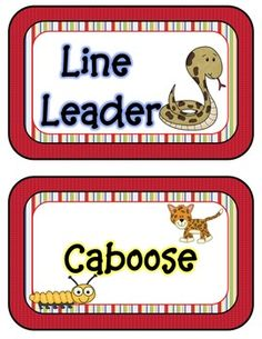 Rainforest Jungle Themed Classroom Job Helpers editable - on TPT