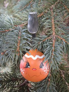 Gingerbread Girl Spoon Hand Painted Art Spoon Ornament