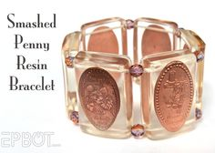 Smashed Penny Resin Bracelet -MouseTalesTravel.com  #MTT #disneydiy #crafts