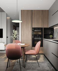 Simple Kitchen Design, Luxury Kitchen Design, Kitchen Room Design, Interior Design Kitchen, Kitchen Decor, Stylish Kitchen, Kitchen Designs, Modern Kitchen Interiors, Small Modern Kitchens
