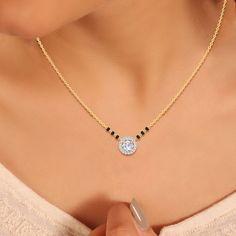 Mangalsutra Simple, Mangalsutra Bracelet, Diamond Mangalsutra, Gold Mangalsutra Designs, Gold Earrings Designs, Necklace Designs, India Online, Solitaire Earrings, Solitaire Diamond