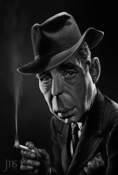Humphrey Bogart by Javier Martinez, via Behance