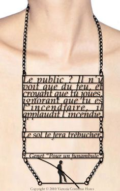 Victoria CONTRERAS. Romantic, poetical typographic jewels- each piece featuring a quote by a famous author…