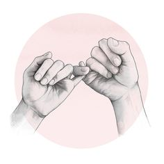 pinky swear, drawing of hands