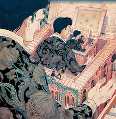 "Victor Ngai ~ illustration for Jedediah Barry's ""A Window or a Small Box"""