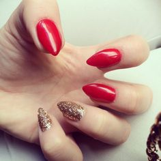 Red & Gold Short Stiletto