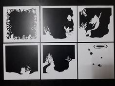 Little Mermaid - 2 [ inch ] - Paper Cutting Light Box Template files - Papier - Paper 3d Paper Art, Paper Crafts, Foam Crafts, Kids Crafts, Little Mermaid 2, Papier Diy, Shadow Box Frames, Box Art, Stencil