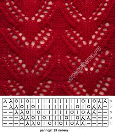 knitting pattern with needles directory Lace Knitting Stitches, Lace Knitting Patterns, Knitting Charts, Lace Patterns, Easy Knitting, Loom Knitting, Knitting Designs, Stitch Patterns, Tear