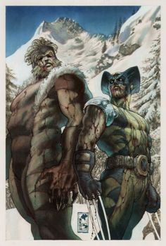 Sabretooth and Wolverine by Simone Bianchi