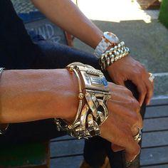 Wearing silver jewelry  www.ajuweliers.nl #men'sjewelry Stacking Bracelets, Silver Bracelets, Jewelry Bracelets, Bracelets For Men, Silver Earrings, Women Jewelry, Fashion Jewelry, Fashion Bracelets, Jewelry Tools