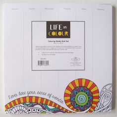 Life in Colour Color Colouring Weekly Desk Pad never lose your sense of wonder Black And White Sheets, Day List, Desk Pad, Hard To Find, Color Of Life, Staying Organized, Losing You, Colouring, How To Draw Hands