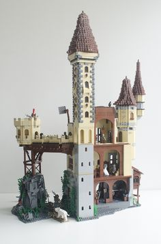 A castle I build. Just for fun, which I did have a lot building this.