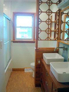 MCM ranch bathroom remodel  Nicely done.