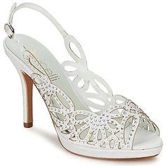 Für den modischen Effekt ist der weiße Kalopi mit einen Riemen aus Leder und einer Sohle aus Leder ausgestattet. Mit seinem Innenfutter aus Leder und der Innensohle aus Leder ist dieser Schuh sehr komfortabel.  - Farbe : Weiss - Schuhe Damen 129,00 €