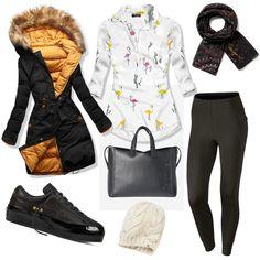 Mrazy a zima sú na vrchole pomaly prichádza jar, no ako sa obliecť do týchto mrazov?  Prinášame Vám tip, s ktorým tieto mrazy určite prečkáte. :) Polyvore, Fashion, Moda, Fashion Styles, Fashion Illustrations