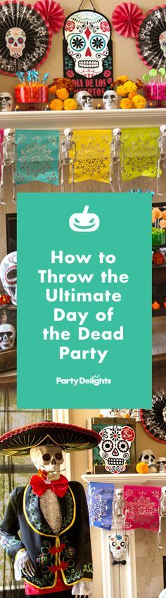 Read our Day of the Dead party ideas to find out how to throw a spooky and stylish skeletal soirée! Find decorating ideas, costume ideas and more for the best Halloween party theme of the year.