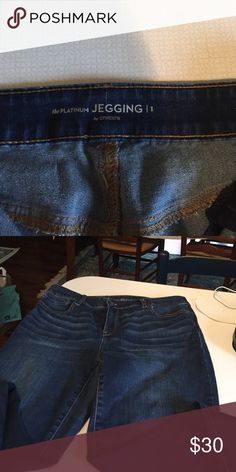 Chicos jeggings Chico's Platinum Jeggings - Size 1 - perfect condition - no stains or rips. Chico's Pants Leggings