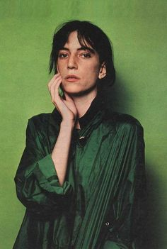 Patti Smith in the perfect green