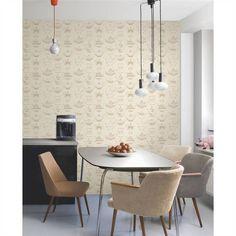 Gold / Cream - FD31193 - Tea Pots - Fine Decor Wallpaper