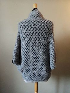 Super Ideas for crochet facile debutante Crochet Bolero, Pull Crochet, Gilet Crochet, Crochet Shawls And Wraps, Crochet Cardigan, Crochet Granny, Diy Crochet, Boys Sewing Patterns, Clothing Patterns