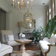 French Living Room, French, living room, Benjamin Moore China White