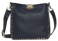 6d46fc863cfb Valentino Small Rockstud Leather Hobo