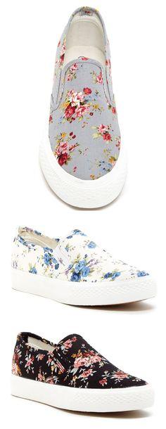 Floral Slip-On Sneakers @scrapwedo