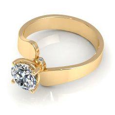 Aurella - 0.55CT round cut diamonds solitaire ring - Yellow gold, £1,100.00 (http://www.aurella.co/0-55ct-round-cut-diamonds-solitaire-ring-yellow-gold/)