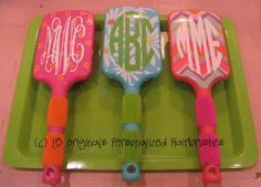 Personalized Hairbrushes by preppypapergirl on Etsy