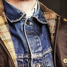 Layers denim & barbour
