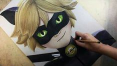 Cat Noir - by Diana Diaz Ladybug Art, Ladybug Y Cat Noir, Ladybug Anime, Pencil Painting, Color Pencil Art, Disney Drawings, Art Drawings, Diana Diaz, Adrian Agreste
