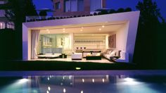 Outside deck living room by A-cero