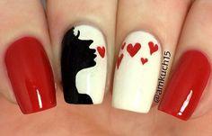 Sweet nail art designs - how you can do it at home. Pictures designs: Sweet nail art designs for you Cute Nail Art Designs, Nail Art Designs 2016, Nail Design, Trendy Nails, Cute Nails, Hair And Nails, My Nails, Kiss Nails, Valentine Nail Art