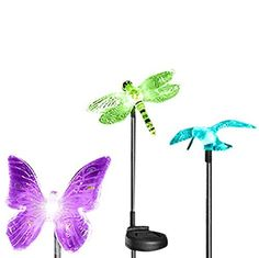 Esky Solar Powered Outdoor Hummingbird, Butterfly  Dragonfly Solar - http://freebiefresh.com/esky-solar-powered-outdoor-hummingbird-butterfly-review/
