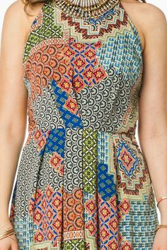 Oh, love the pattern on this dress.