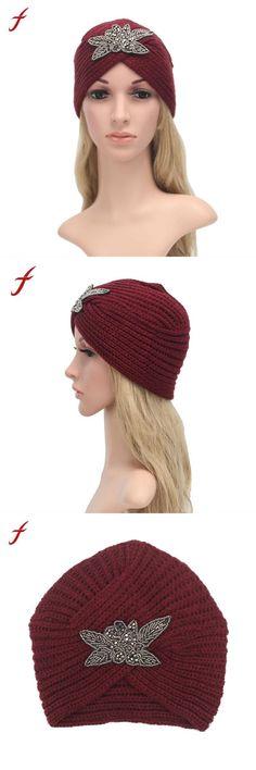 7b467fe2b08 Fashion autumn winter hats unisex warm knit crochet hat braided casquette  turban headdress cap for women