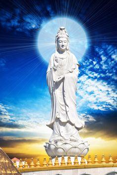 A Di Da Phat Quan The Am Guanyin Buddha 2217 by kwanyinbuddha on DeviantArt Buddha Wisdom, Buddha Art, Buddhism Wallpaper, Lord Buddha Wallpapers, Thing 1, World Of Fantasy, Guanyin, Anime, Statue Of Liberty